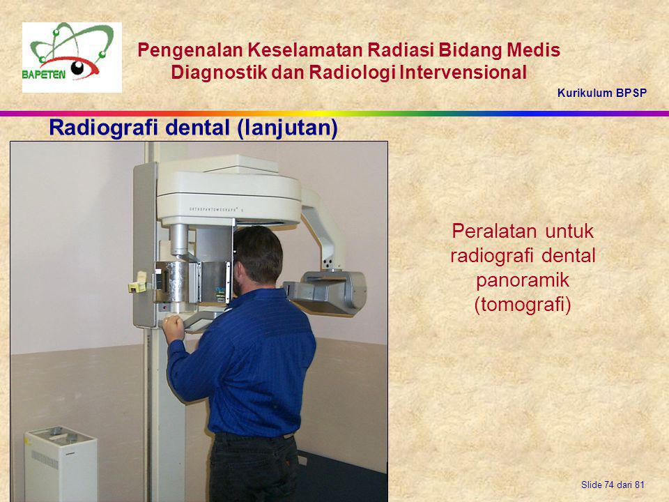 radiografi dental panoramik (tomografi)