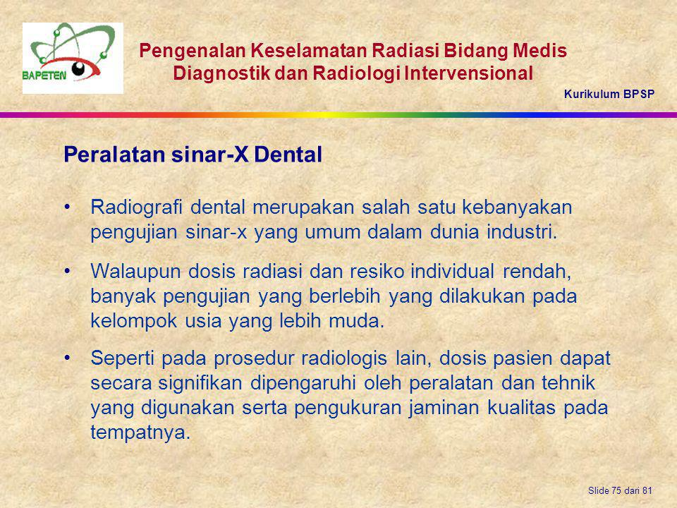 Peralatan sinar-X Dental