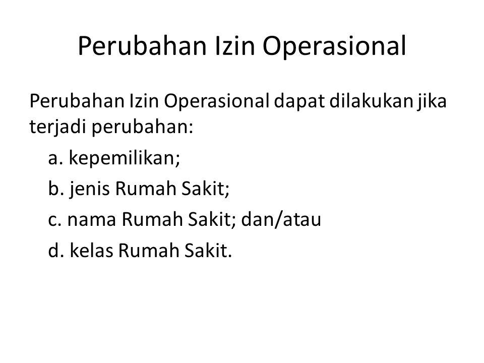 Perubahan Izin Operasional