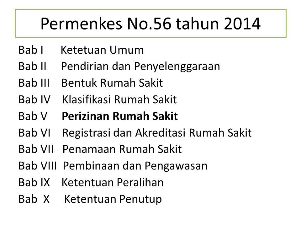 Permenkes No.56 tahun 2014 Bab I Ketetuan Umum