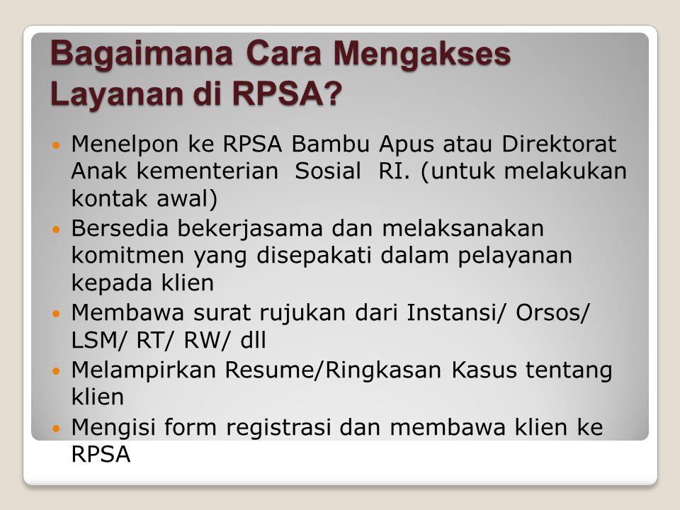 Bagaimana Cara Mengakses Layanan di RPSA