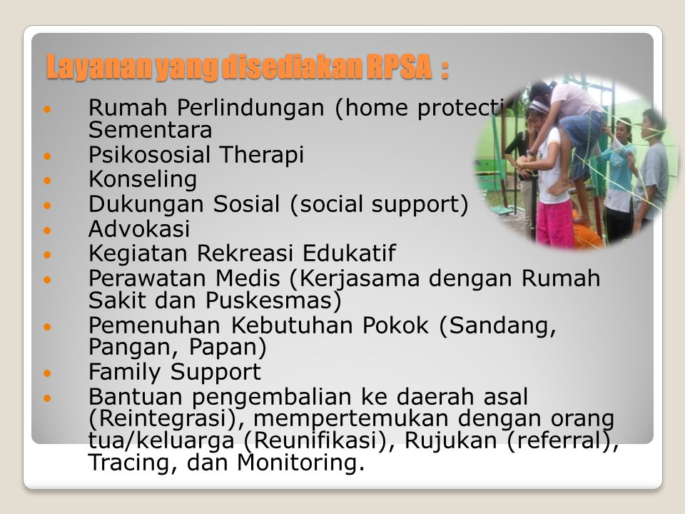 Layanan yang disediakan RPSA :