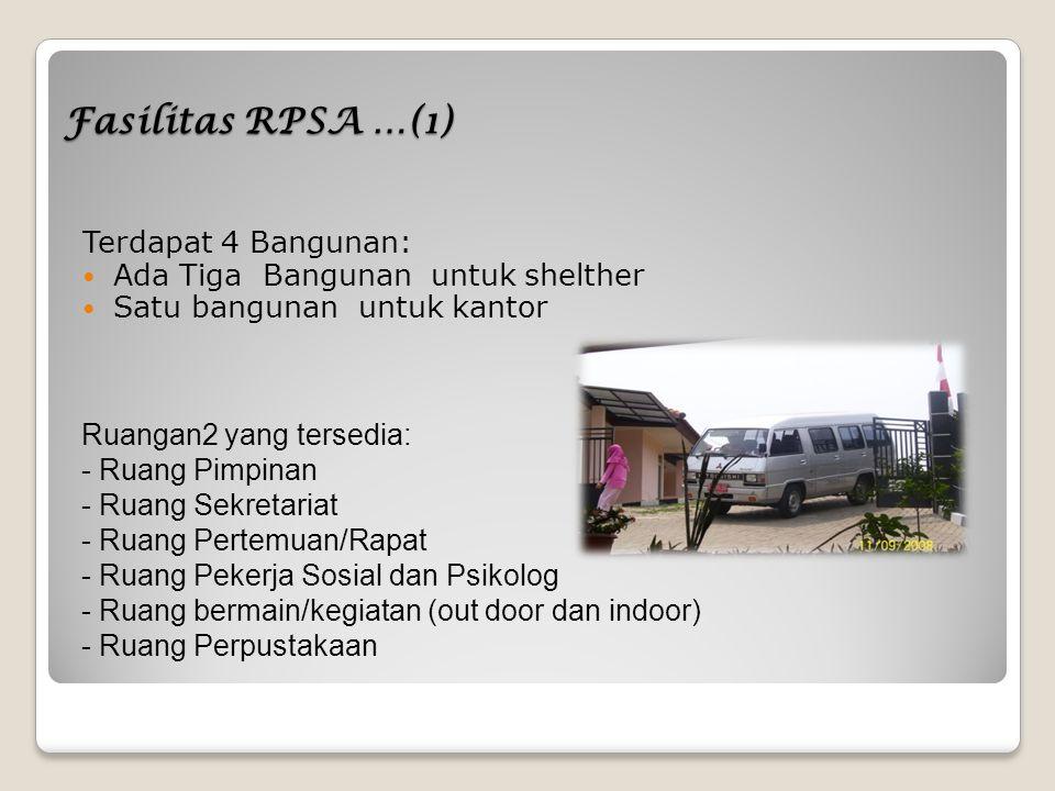 Fasilitas RPSA …(1) Terdapat 4 Bangunan: