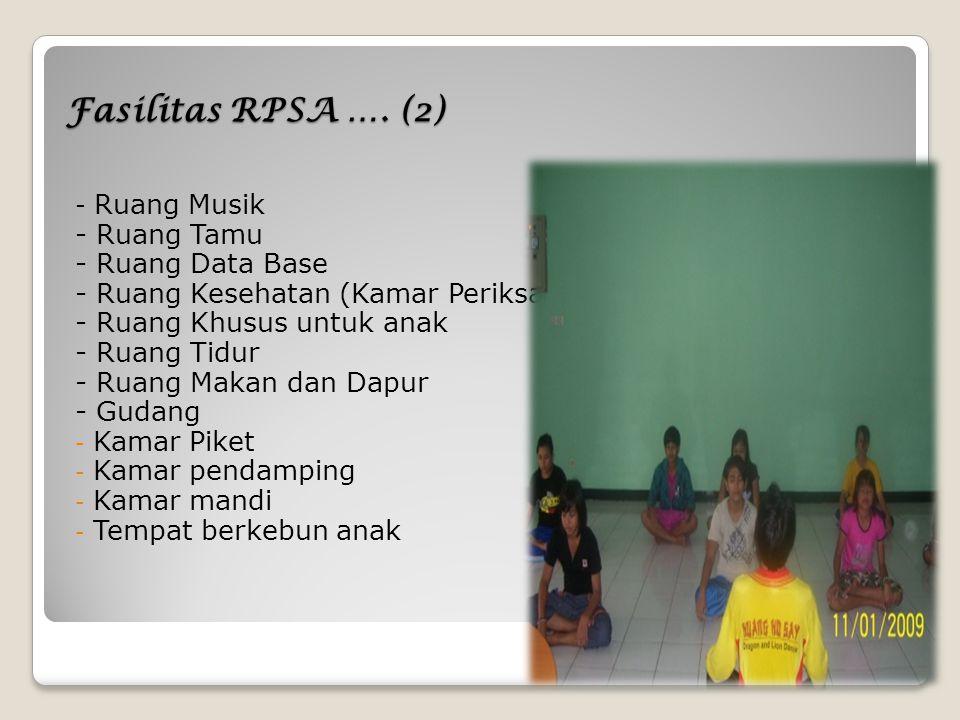 Fasilitas RPSA …. (2) - Ruang Tamu - Ruang Data Base