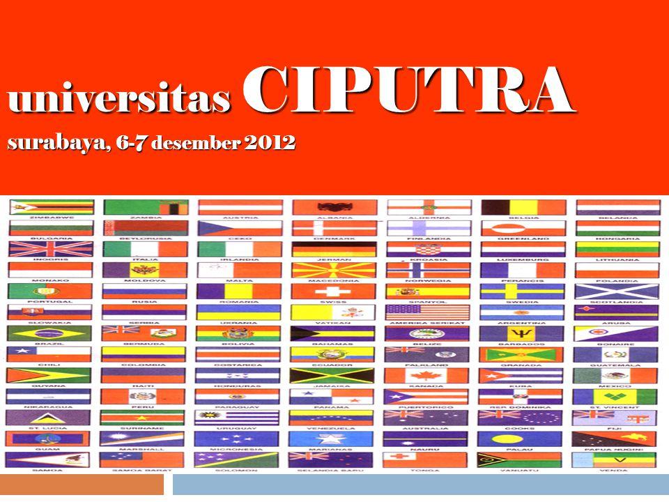 universitas CIPUTRA surabaya, 6-7 desember 2012