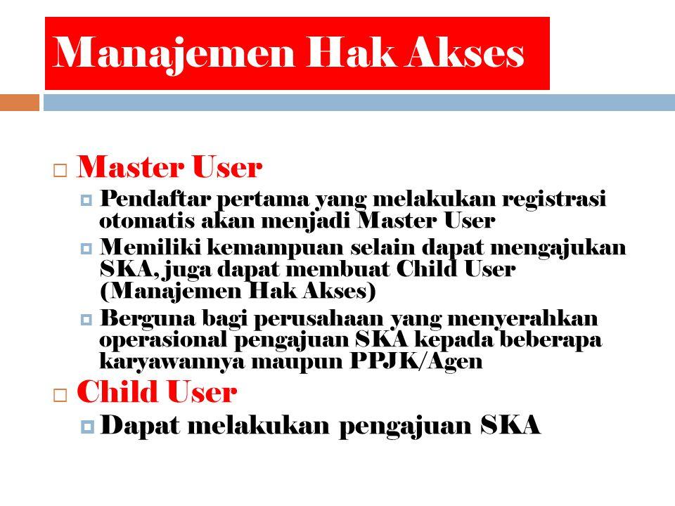 Manajemen Hak Akses Master User Child User