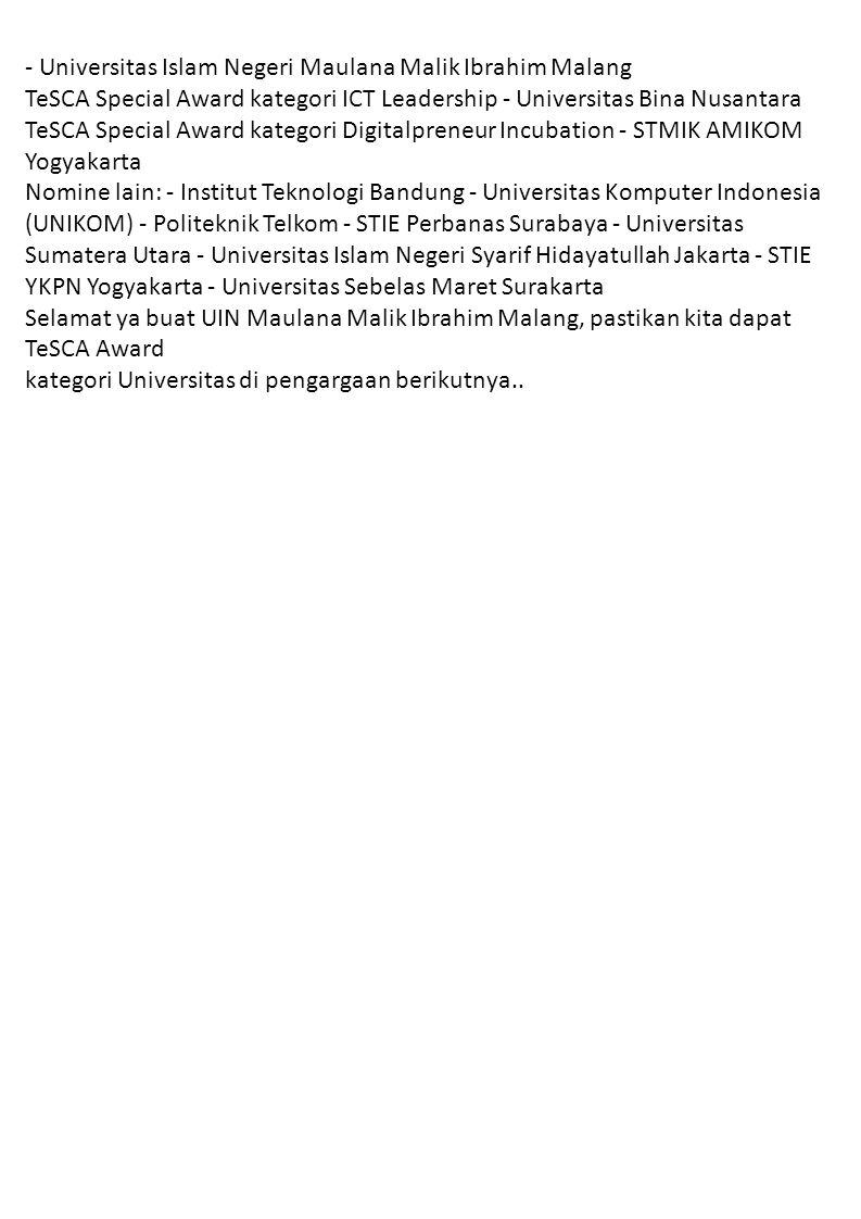 - Universitas Islam Negeri Maulana Malik Ibrahim Malang