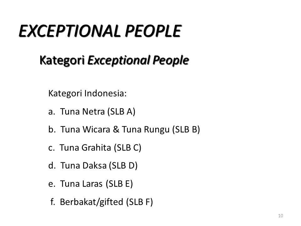 Kategori Exceptional People