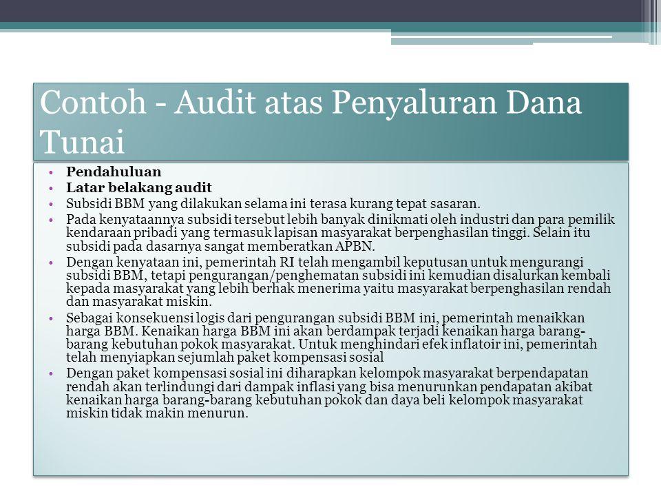 Contoh - Audit atas Penyaluran Dana Tunai