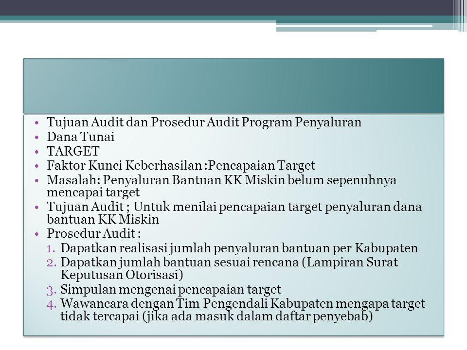 Tujuan Audit dan Prosedur Audit Program Penyaluran