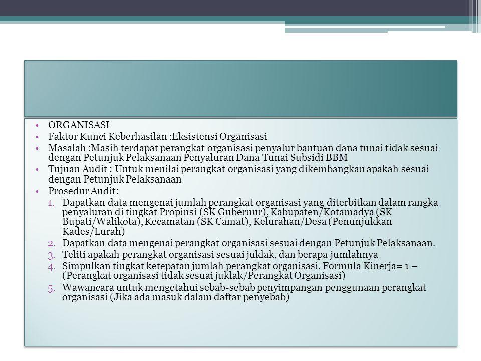 ORGANISASI Faktor Kunci Keberhasilan :Eksistensi Organisasi.
