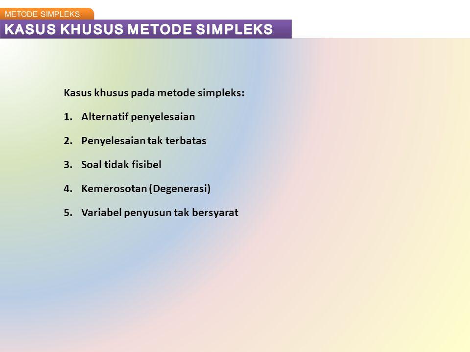 KASUS KHUSUS METODE SIMPLEKS