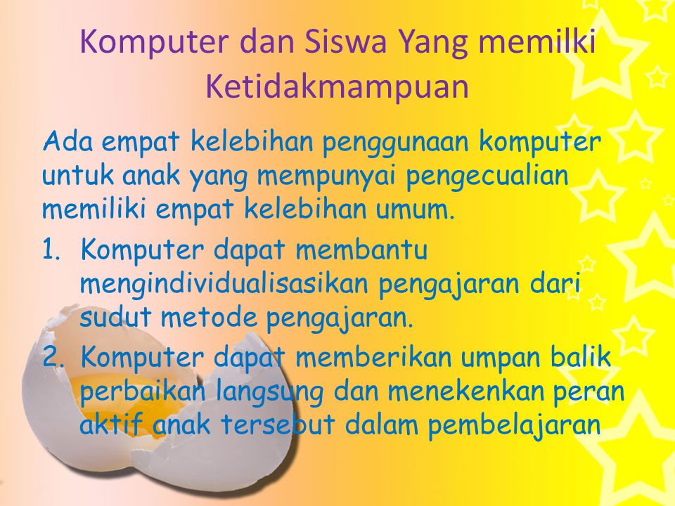 Komputer dan Siswa Yang memilki Ketidakmampuan