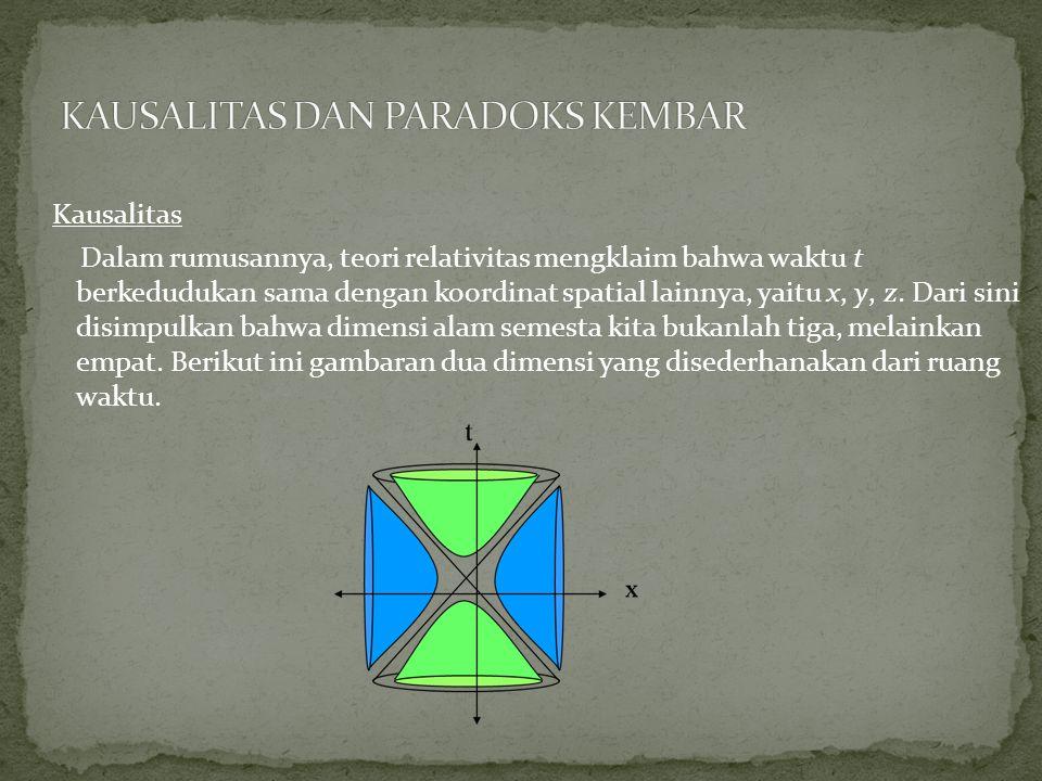 KAUSALITAS DAN PARADOKS KEMBAR