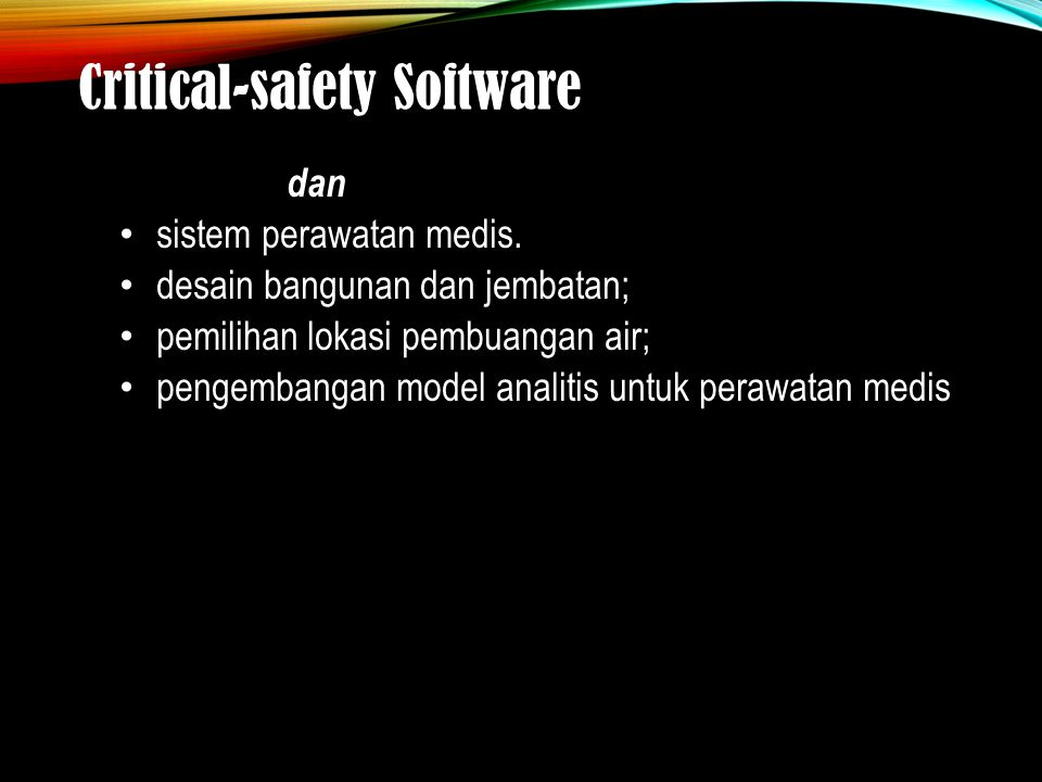 Critical-safety Software