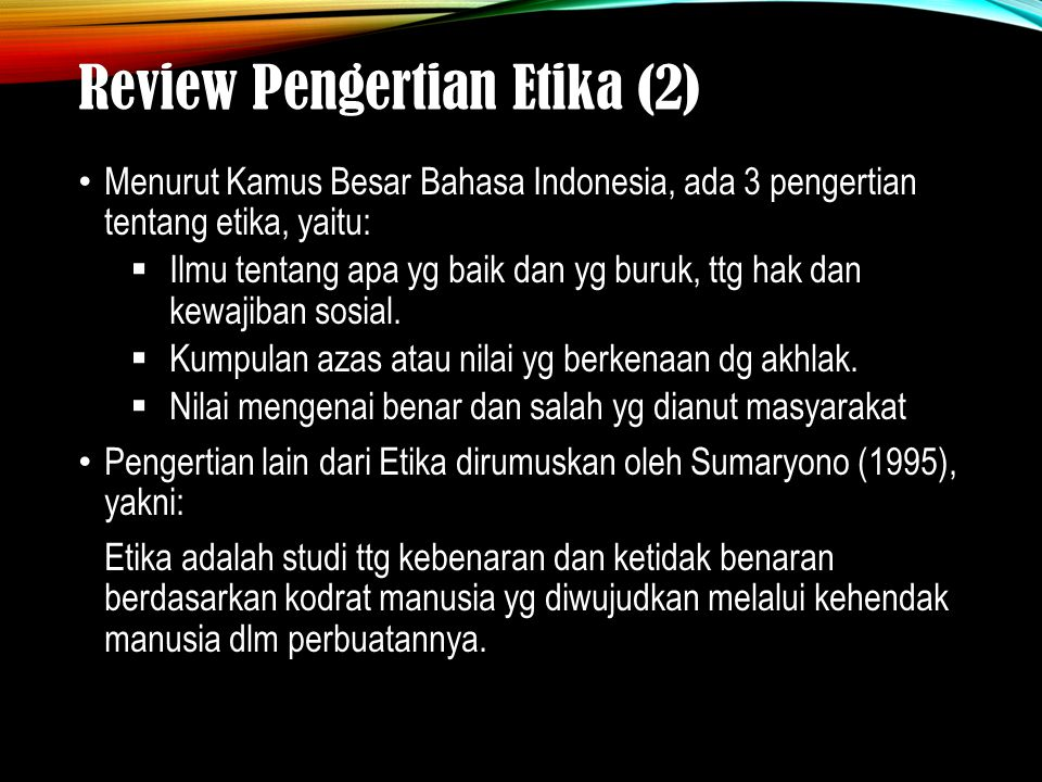 Review Pengertian Etika (2)