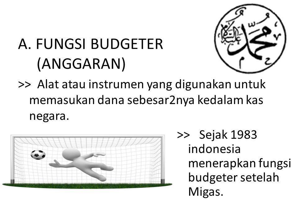 A. FUNGSI BUDGETER (ANGGARAN)