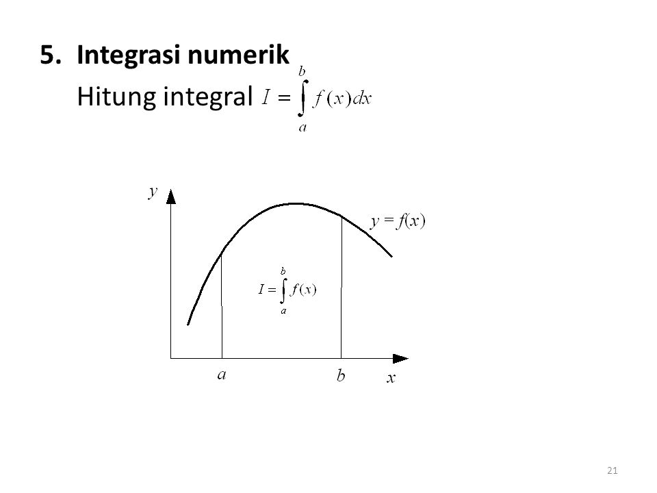 Integrasi numerik Hitung integral