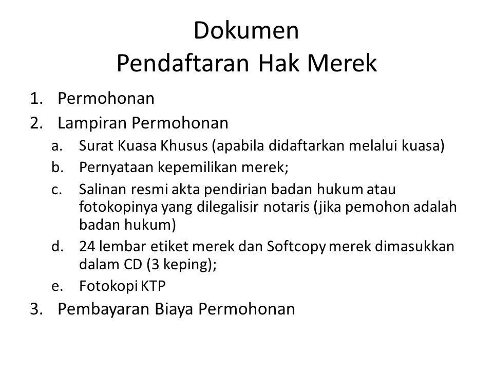Dokumen Pendaftaran Hak Merek