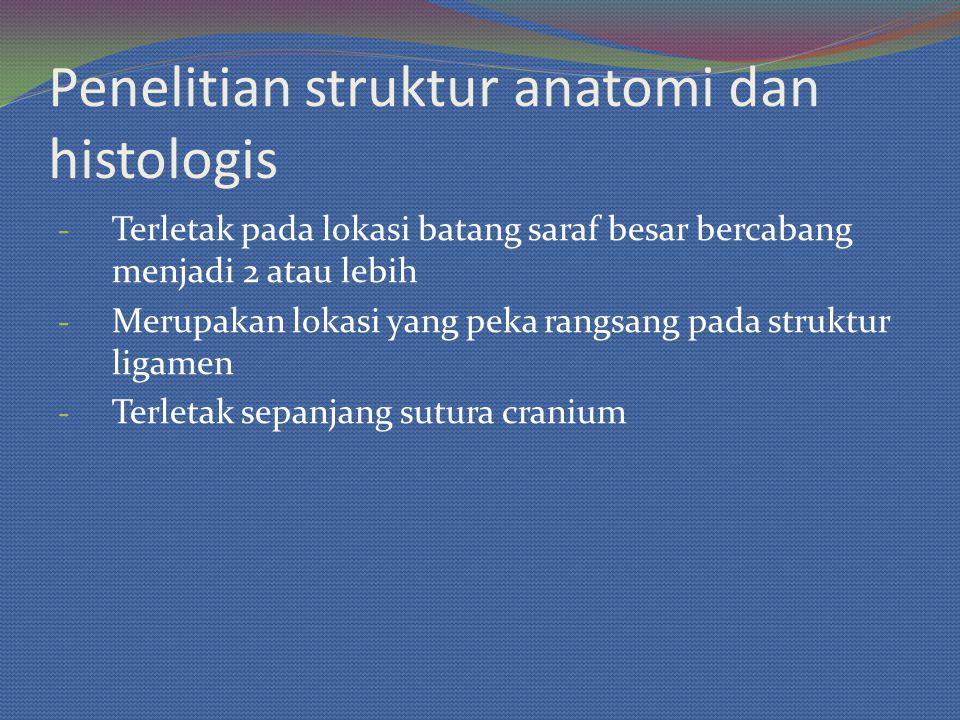 Penelitian struktur anatomi dan histologis