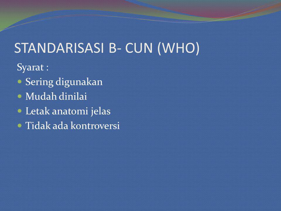 STANDARISASI B- CUN (WHO)