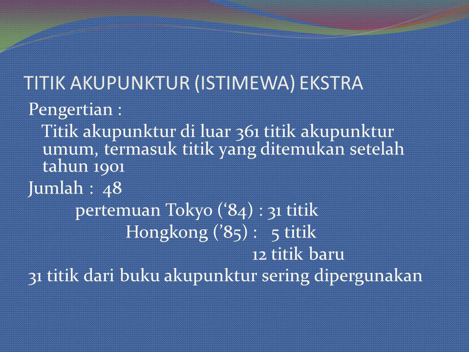 TITIK AKUPUNKTUR (ISTIMEWA) EKSTRA