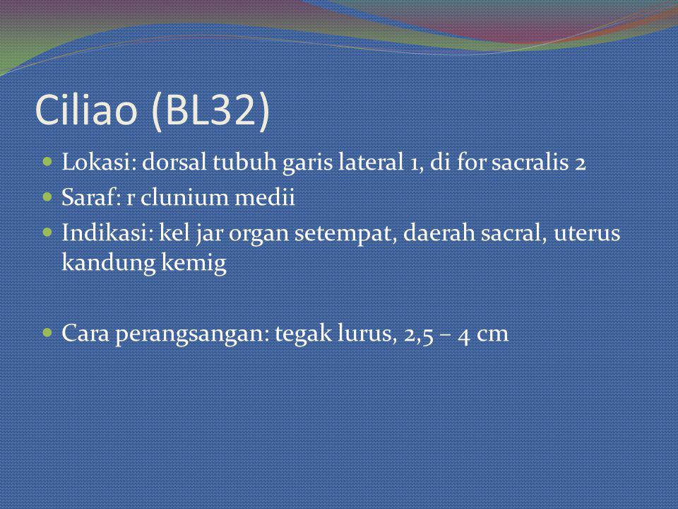 Ciliao (BL32) Lokasi: dorsal tubuh garis lateral 1, di for sacralis 2