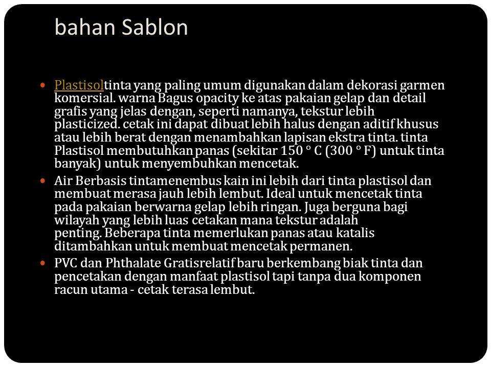 bahan Sablon