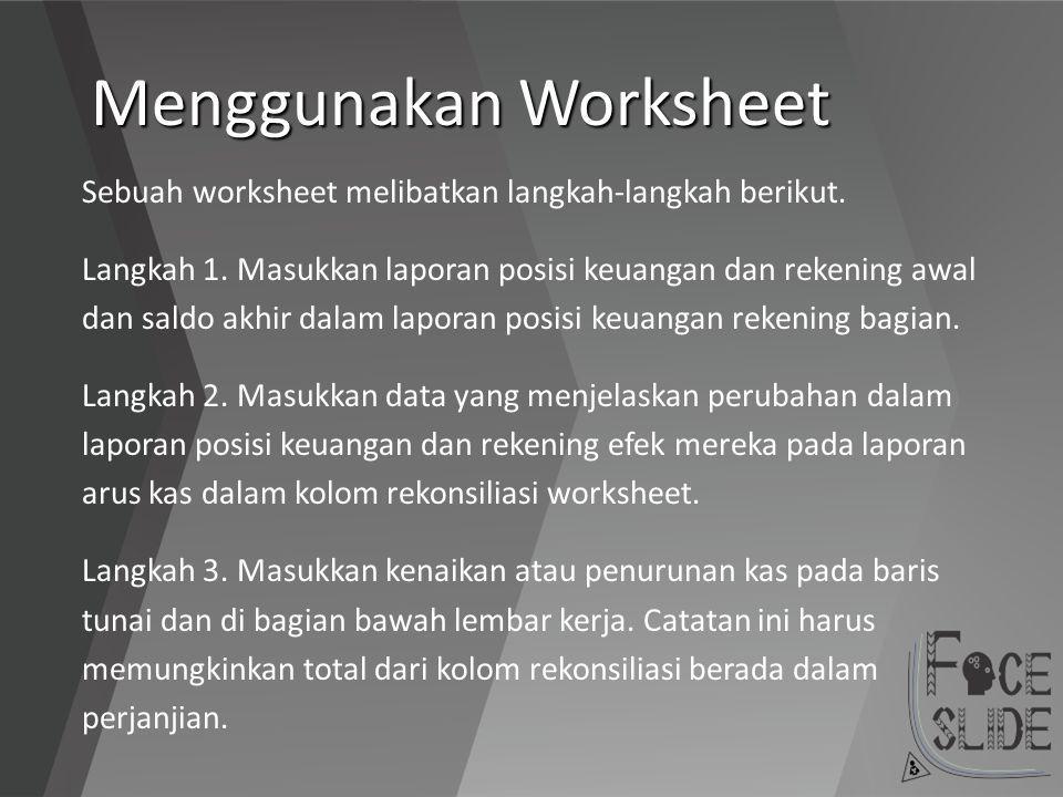Menggunakan Worksheet