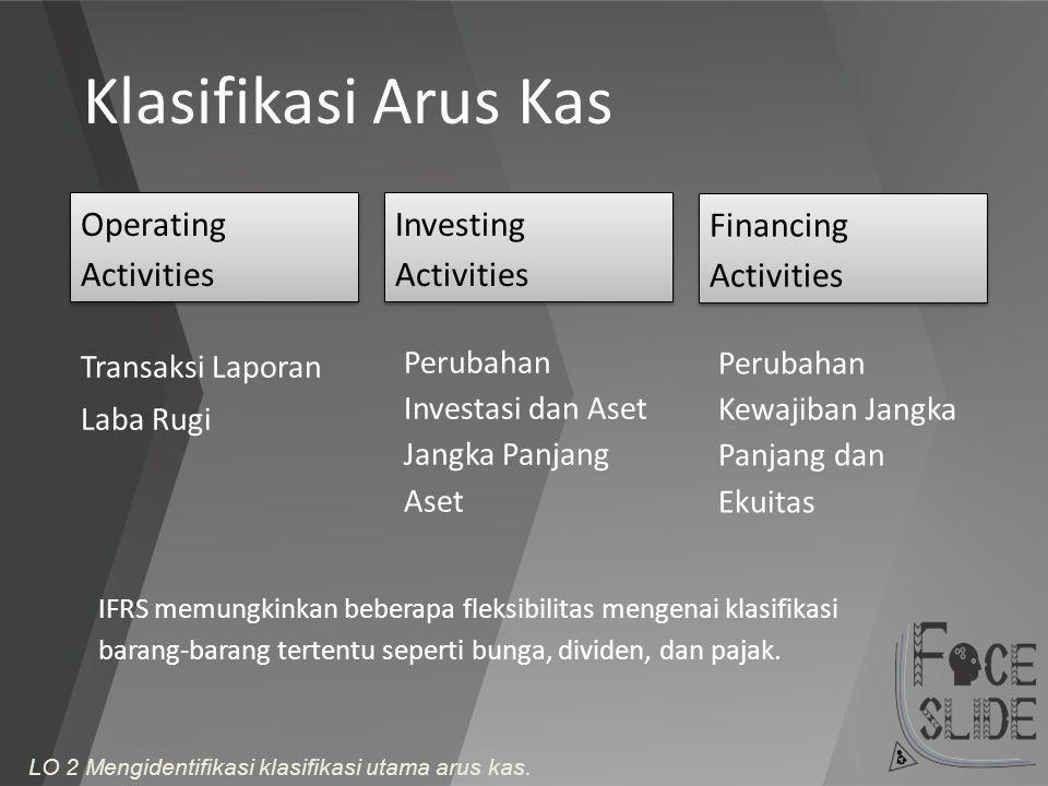 Klasifikasi Arus Kas Operating Activities Investing Activities
