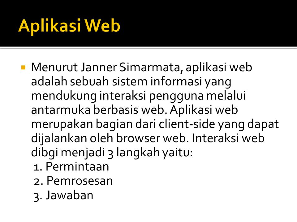 Aplikasi Web