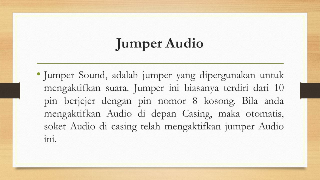 Jumper Audio