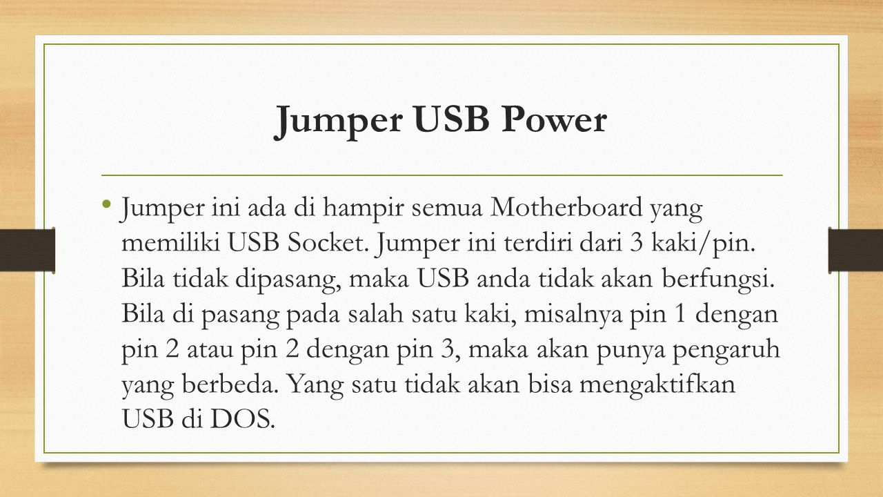 Jumper USB Power