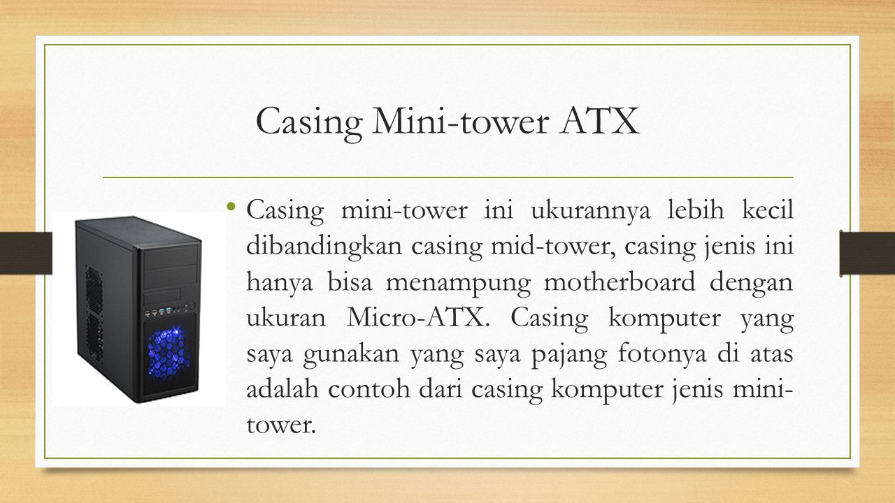 Casing Mini-tower ATX