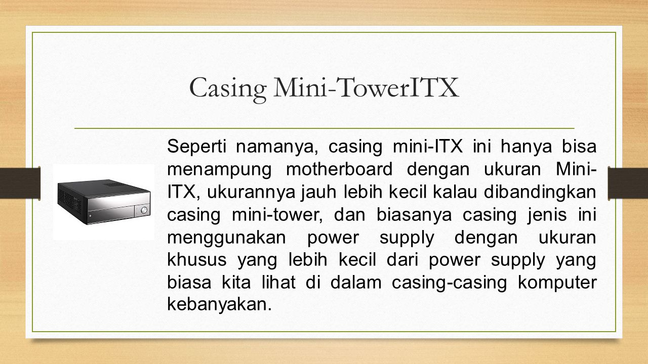 Casing Mini-TowerITX