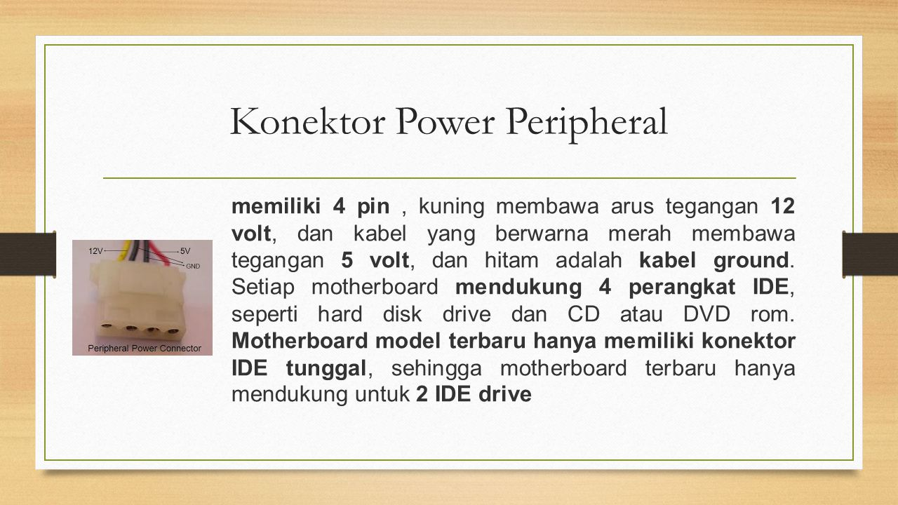 Konektor Power Peripheral