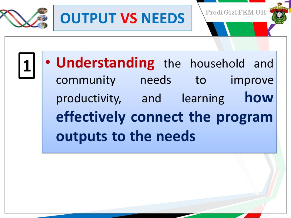 OUTPUT VS NEEDS
