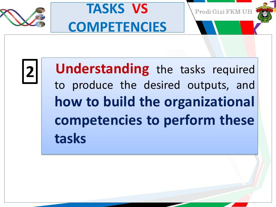 TASKS VS COMPETENCIES