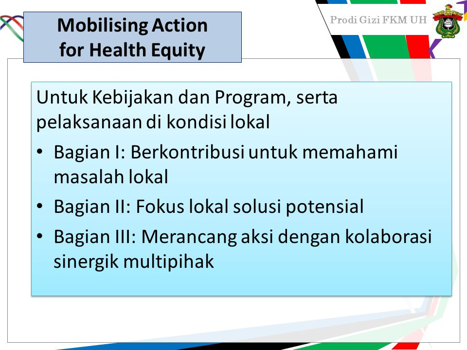 Mobilising Action for Health Equity