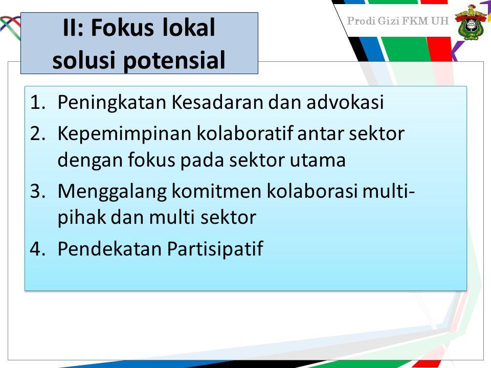 II: Fokus lokal solusi potensial