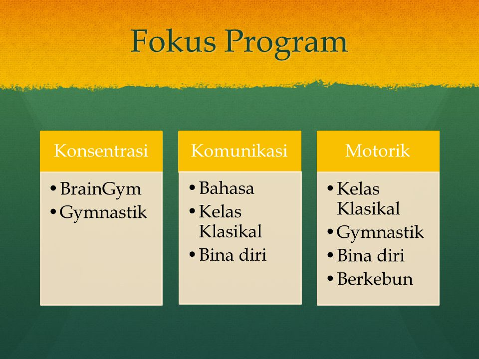 Fokus Program Konsentrasi BrainGym Gymnastik Komunikasi Bahasa