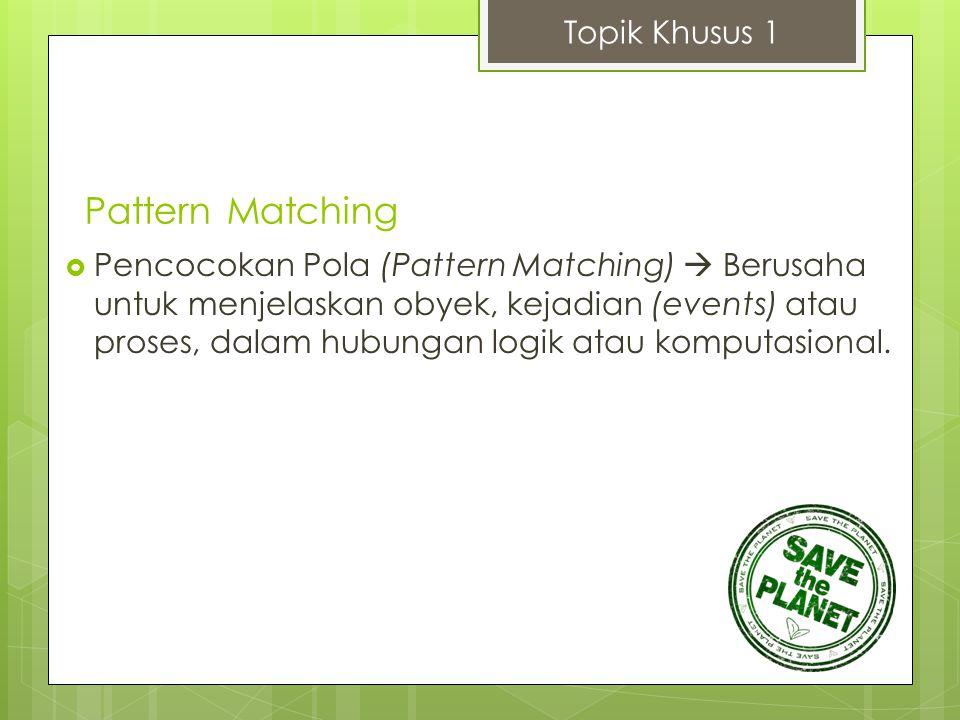Pattern Matching Topik Khusus 1