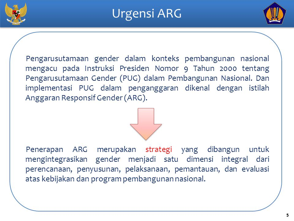 Urgensi ARG