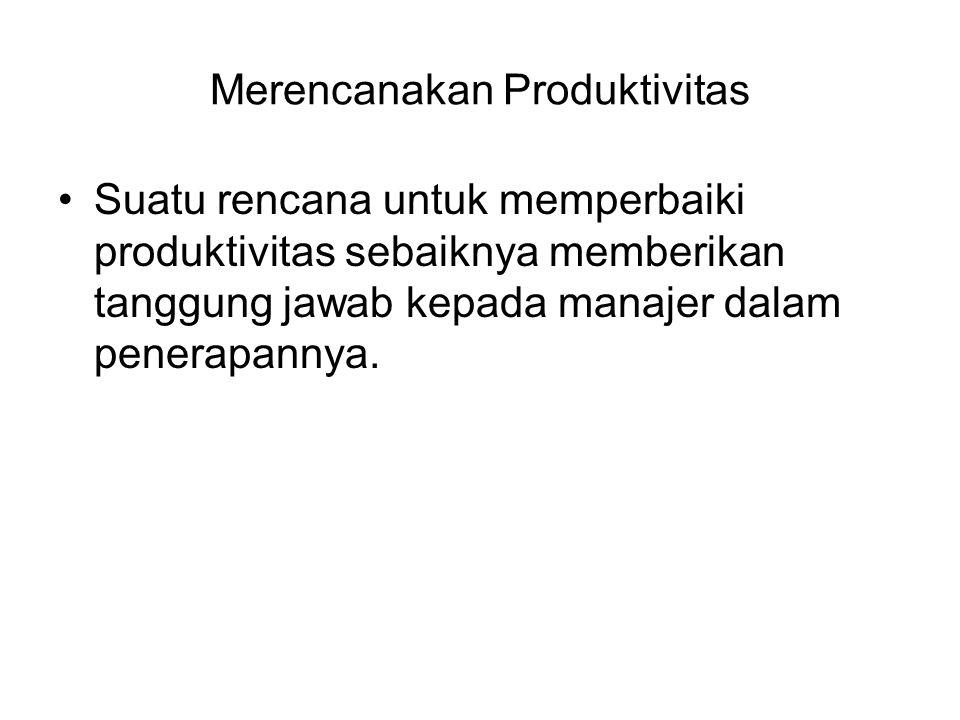 Merencanakan Produktivitas
