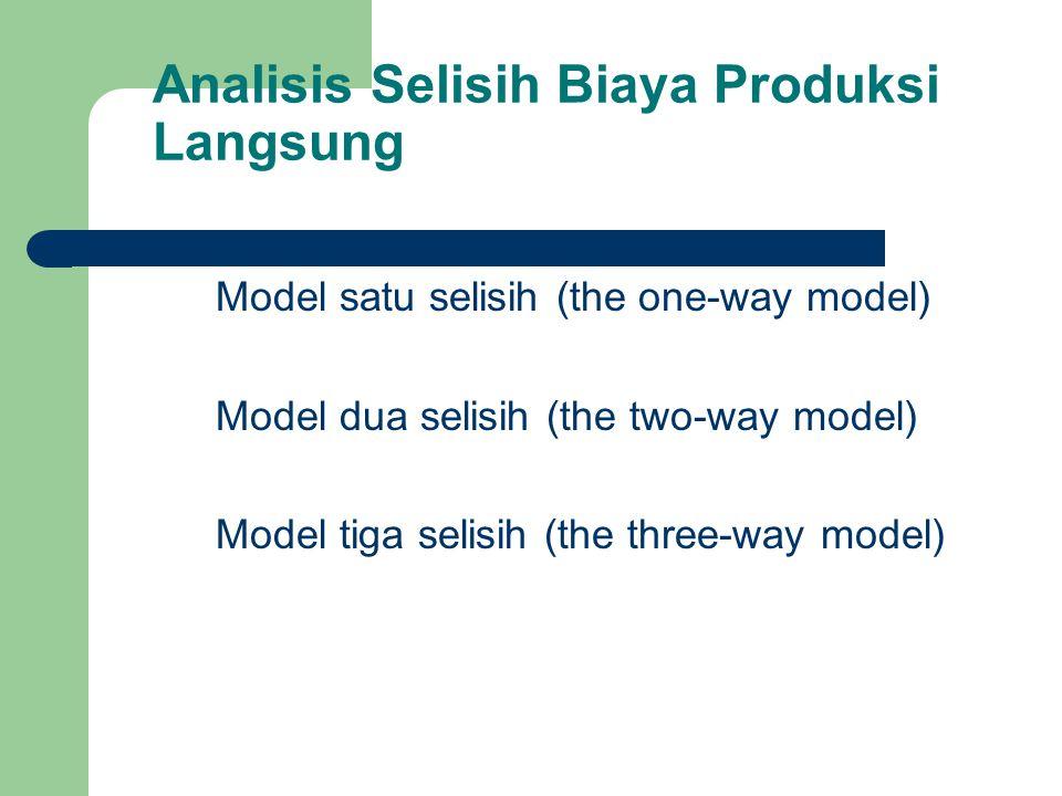 Analisis Selisih Biaya Produksi Langsung