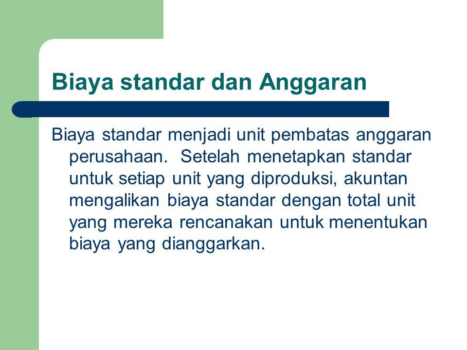 Biaya standar dan Anggaran
