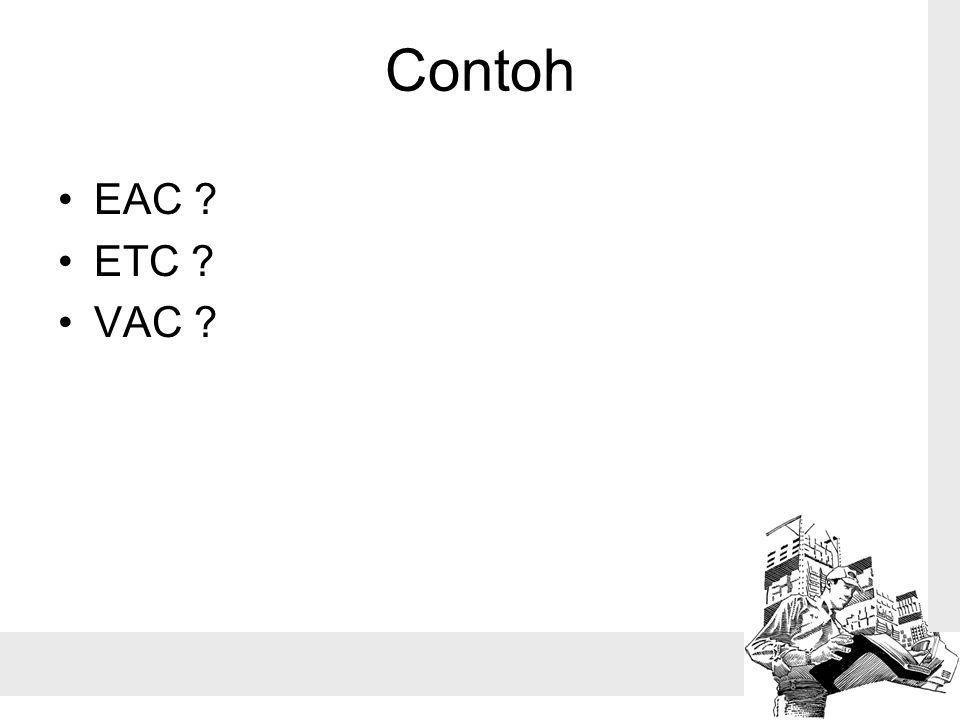 Contoh EAC ETC VAC