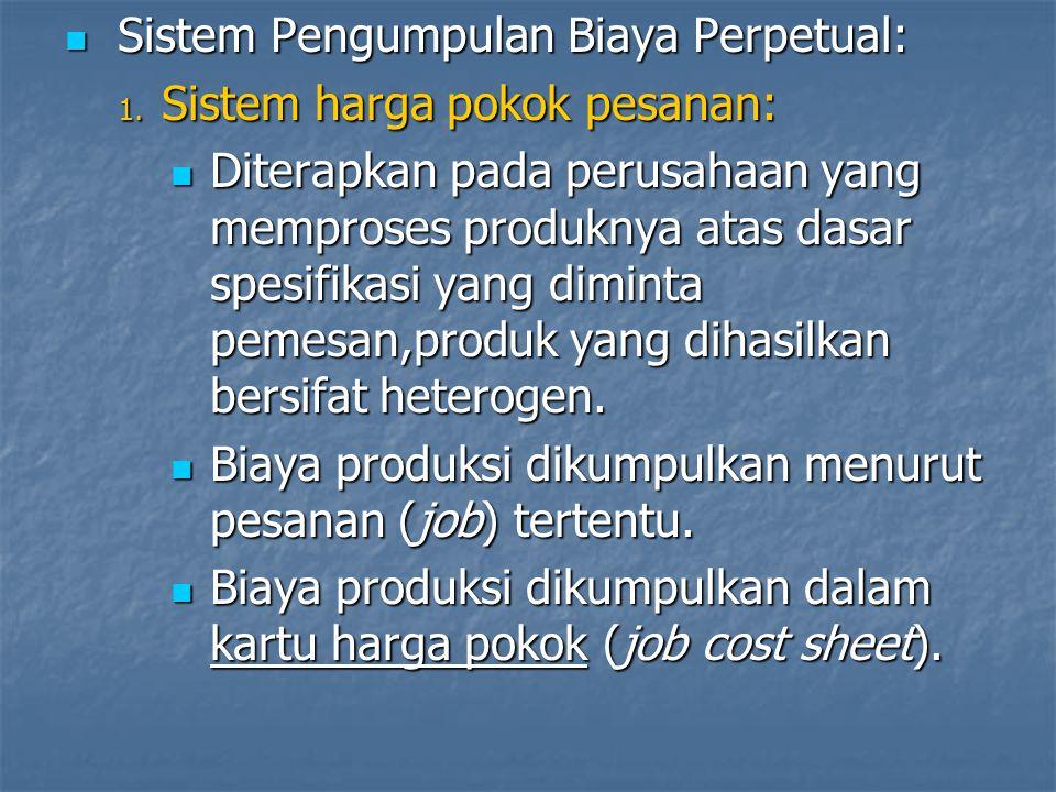 Sistem Pengumpulan Biaya Perpetual:
