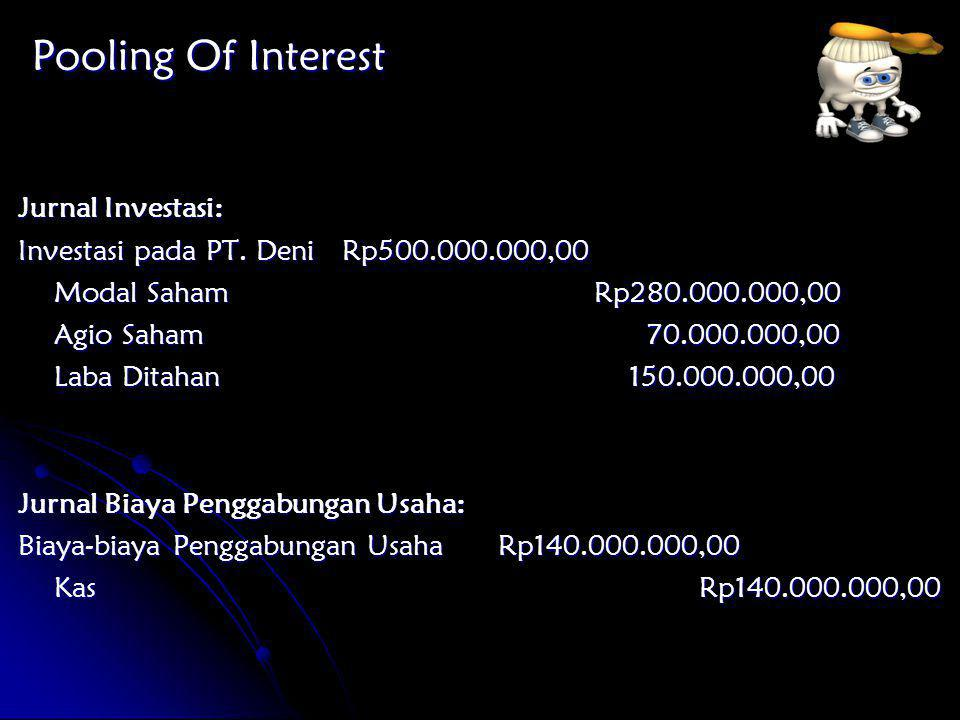 Pooling Of Interest Jurnal Investasi: