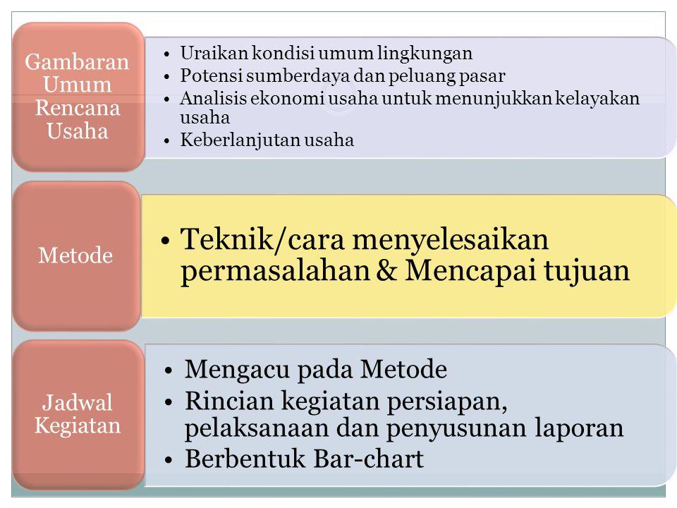 Gambaran Umum Rencana Usaha